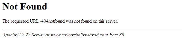 Página de error 404 básica
