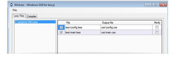 winless, compilar less css