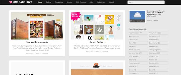 Inspiración páginas web en OnePageLove