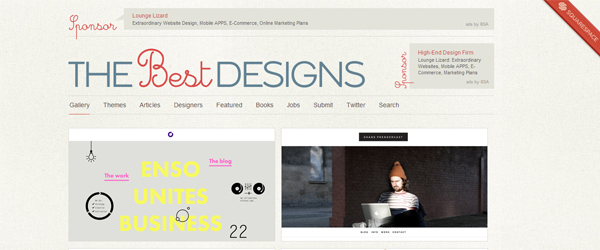 Listado top webs en TheBestDesigns