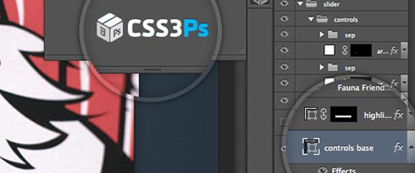 CSS3Ps convertidor de archivo PSD a CSS3