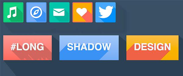 Que es el long shadow en el diseño plano