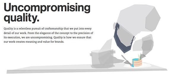 Sitio web concepto Flat Design