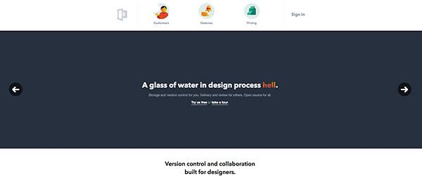 Ejemplo de web Flat Design