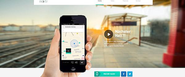 Buen ejemplo de web Flat Design